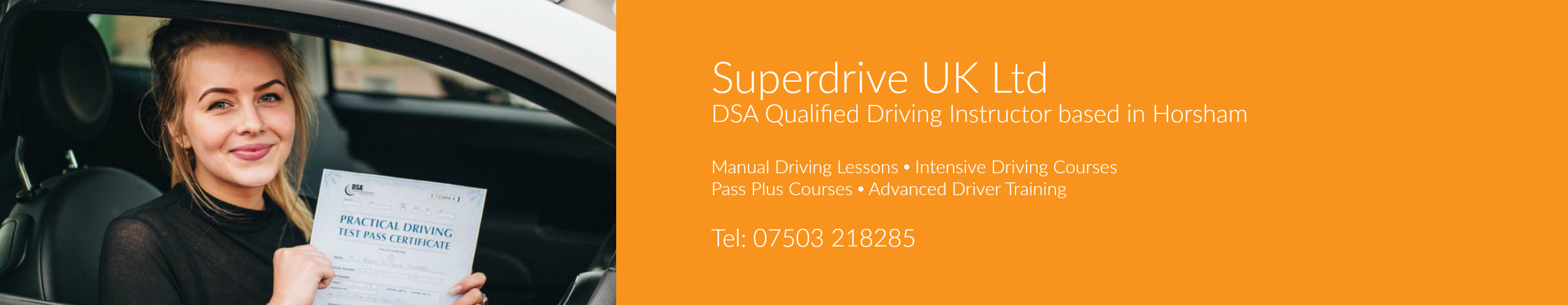 driving lessons horsham